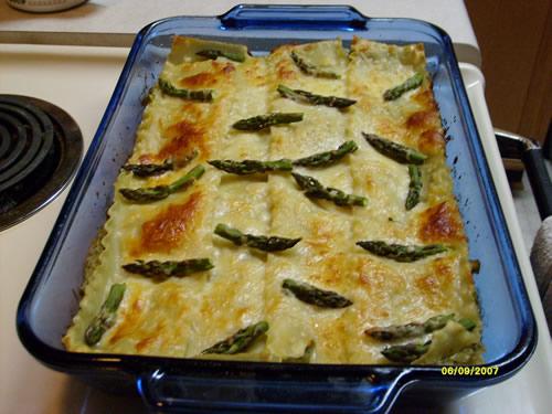 pesto asparagus lasagna 1